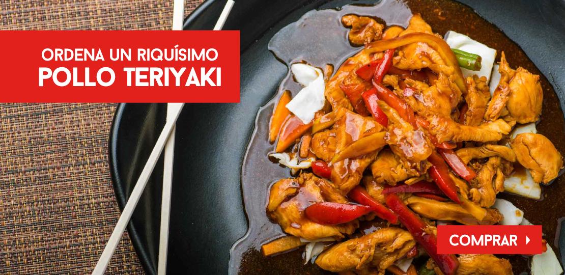 Ordena un riquísimo Pollo Teriyaki  -  Restaurantes YAO Asian Cuisine